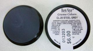 Ben Nye Primary Colors Creme Liners Steel Grey CL 25 Creme Makeup 25oz