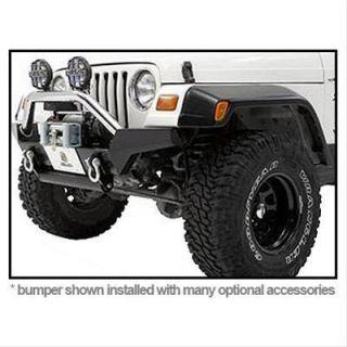 Bestop 42917 01 Bumper HighRock 4x4 Steel Black Front Jeep Wrangler