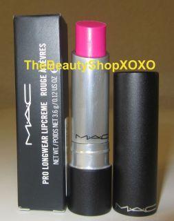 NIB MAC Beth Ditto DEAR DIARY Bright Neon Pink Pro Longwear Lipcreme