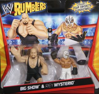 Big Show Rey Mysterio WWE Rumblers Toy Wrestling Action Figures
