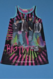 Big Time Rush Nightgown Pajamas PJs Size 6 6X 7 8 10 12 14 16