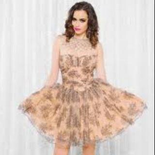 Betsey Johnson Chantilly Black Lace Dress 12