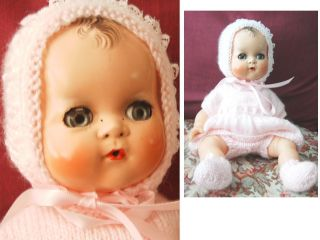 Vintage Betsy Wetsy Ideal doll 50s Hard Plastic Vinyl Rubber baby