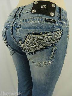 Miss Me Jeans Crystal Wings Fallen Angel Rhinestones Style JY5442B2