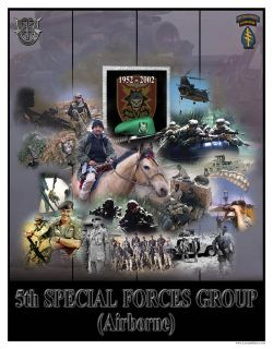 Green Berets 5th Special Forces Special Ops Poster