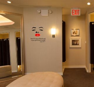 Marilyn Monroe Wall Decal Beneath The Makeup and Behind The Smile