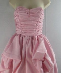 Vintage Mike Benet Pink Sweetheart Strapless Bridesmaid Prom Gown