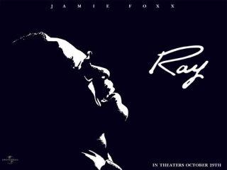 Ray Framed Faux Paul Anka Christmas Album Cover Jaime Foxx Ray