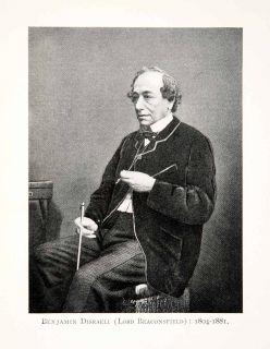 benjamin disraeli lord beaconsfield portrait costume british politics