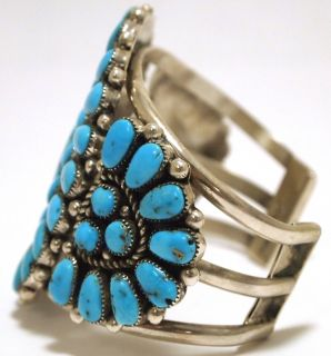 Zuni Sleeping Beauty Turquoise Cuff Bracelet   Robert & Bernice Leekya