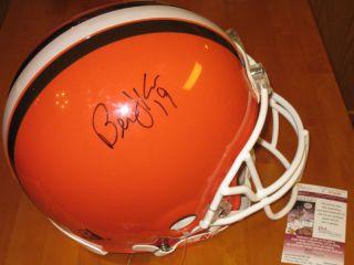 Bernie Kosar #19 signed Cleveland Browns Pro Full Size NFL Helmet JSA