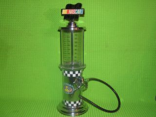 NASCAR Liquior Beverage Dispenser 32oz Antique Visible Gas Pump