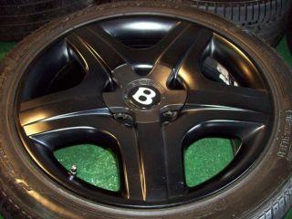 19 Bentley Wheels Tires Continental GT GTC Flying Spur Matte Black