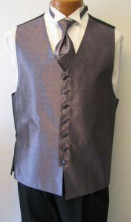 Light Purple Bill Blass Fullback Tuxedo Vest Tie Ml