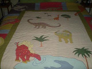The Company Store Kids Dinosaur Comforter Blanket Quilt Sham Twin