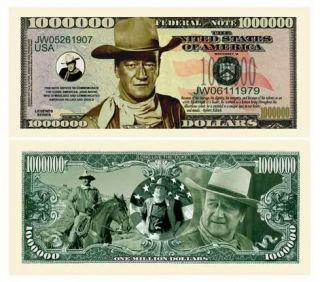 John Wayne Novelty One Million Dollar Bill The Duke