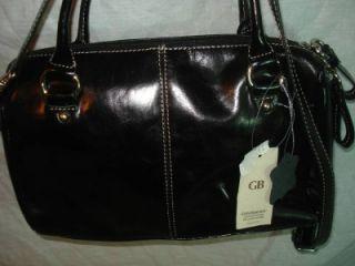 GIANI BERNINI Black Crossbody Handbag Purse Shoulder Bag Leather NWT