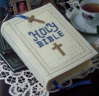 Holy Bible Set Plastic Canvas Pattern Beautiful Cover for Bible
