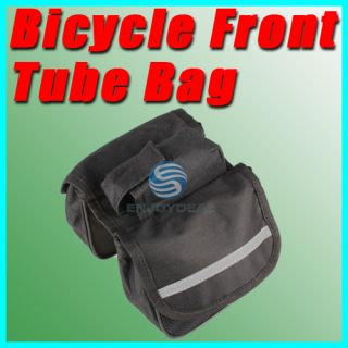 Bicycle Cycling Bike Frame Pannier Front Tube Bag Double Saddle Bag