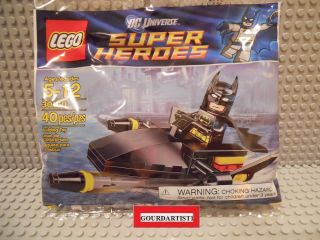 Lego Super Heroes Batman with Jet Ski 30160 New Black Yellow Gray