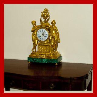 Museum Quality Dore Bronze LG Mantle Clock by Berthoud