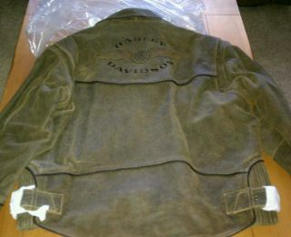 NEW HARLEY DAVIDSON BROWN BILLINGS JACKET 2XL XXL