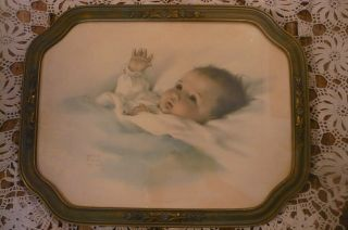 Antique Old Frame Print Awakening Bessie Pease Gutmann