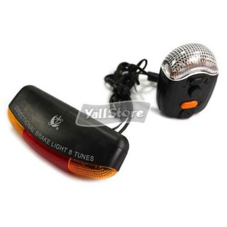 new bicycle bike turn signal brake light horn 135cm