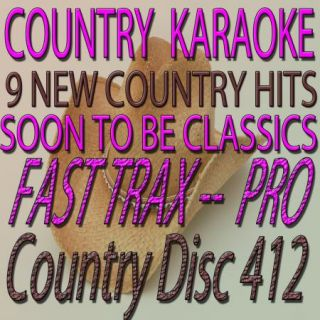 Top Country Tracks from Quik Hits Karaoke CDG Lot Fast Trax 412 New