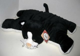 Bestever Black and White Kitty Cat Pillow Pal Pet New with Tag