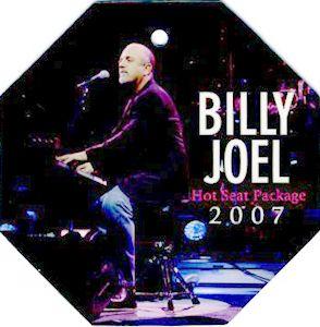 Billy Joel 2007 Tour Laminated Backstage Pass Ticket