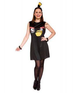black angry birds women costume tank fancy dress large 12 14 halloween