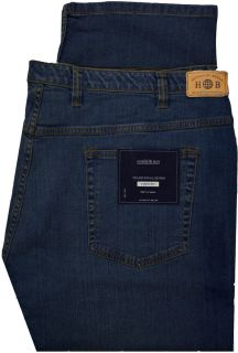 Big Mens Harbor Bay Dark Blue 56 x 30 Jeans Denim Pants Fixed Waist