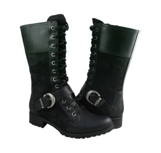 New Timberland Womens Earthkeeper Bethel Mid Lace Blk Boots US