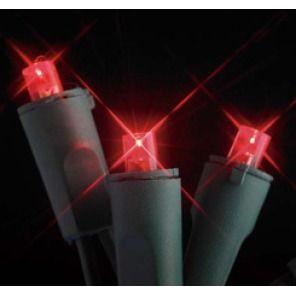 GKI Bethlehem 20 Light Flexchange Battery Operated LED Light Set Red