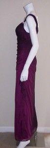 New Women Betsy Adam Purple Sleeveless Embellished Dress Size 8 2942
