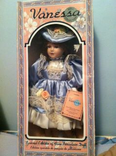 vanessa porcelain doll collection time left $ 100 00 or