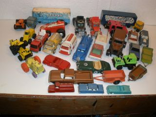 Huge Toy Car & Truck Lot Tonka Corgi Midgetoy Tooper Tootsie Toy Silk