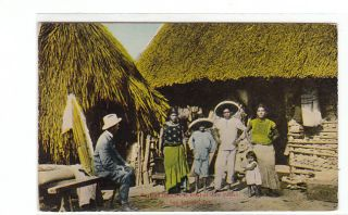 TX Mexican Dancers Early 1900s Postcard Bexar County Texas