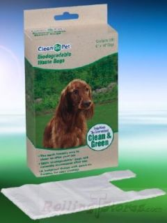 Dog Cat Pet Biodegradable Waste Bags 100 Count Travel