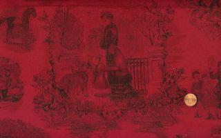 Beyer RJR Holiday Treasures Red Toile Christmas Fabri