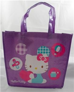 Hello Kitty Tote Shopper Purple Reusable Bag Handbag