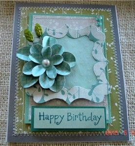 Handmade Greeting Card *Happy Birthday* Fabulous Fridays TPHH