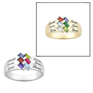 Personalized Mothers Family Ring Choose Birthstones