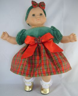 Doll Clothes Fits Bitty Baby Christmas Holiday Taffeta Outfit Huge