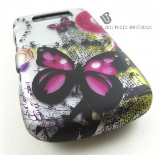 Bizarre Butterfly Hard Shell Case Cover Blackberry Torch 9800 2 9810