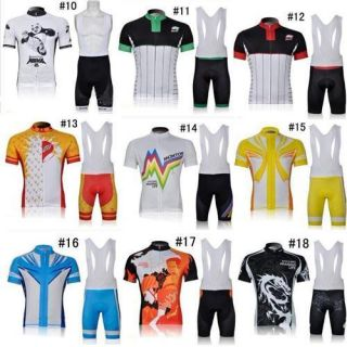 ghost wolf bike cycling Jersey BIB shorts set cycling bicycle wear