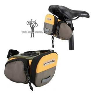 Bicycle Cycling Bike Yellow Rear Wedge Saddle Seat Bag Pouch Package