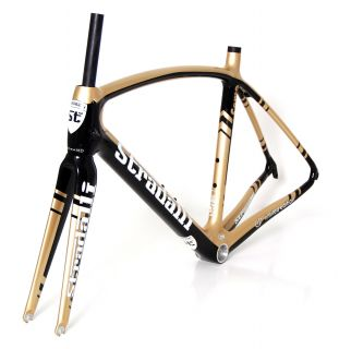 COMO GP 3K CARBON ROAD BIKE RACE BICYCLE FRAMESET BB30 MEDIUM 53