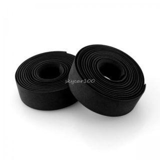 Vinyl Black Rode Bike Bicycle MTB Handlebar Handle Bar Grip Tape Fixie